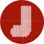 boot, christmas, cloth, holiday, knitwear, red, sock icon