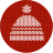 cap, cloth, clothes, fabric, hat, knitwear, red, warm, white icon
