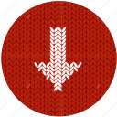 arrow, cloth, download, fabric, knitwear, red, white