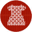 cloth, clothes, dress, fabric, knitwear, red, white icon