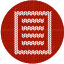 cloth, fabric, knitwear, page, red, text, white icon