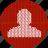 admin, administrator, avatar, cloth, fabric, human, knitwear, man, person, profile, red, user, white icon