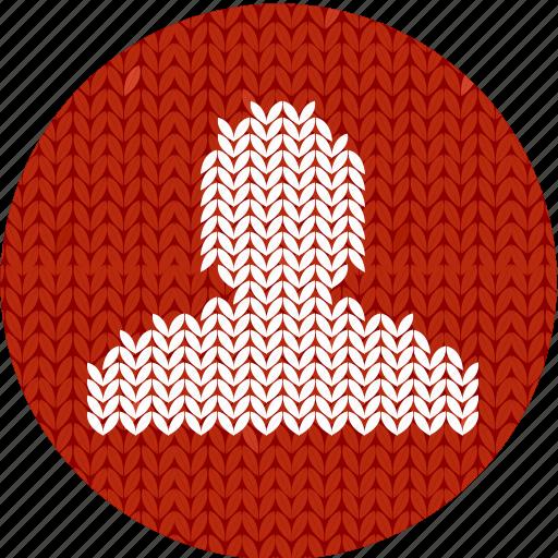 admin, administrator, fabric, human, knitwear, man, person icon