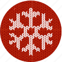 christmas, cloth, cold, knitwear, red, snow, snow flake icon