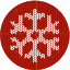 christmas, cloth, cold, fabric, knitwear, red, snow, snow flake, white, winter icon