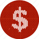 cash, cloth, dollar, economics, fabric, knitwear, money icon