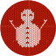 christmas, fabric, knitwear, red, snow, snow man, snowman icon