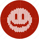 cheerful, cloth, emoticon, fabric, knitwear, positive icon