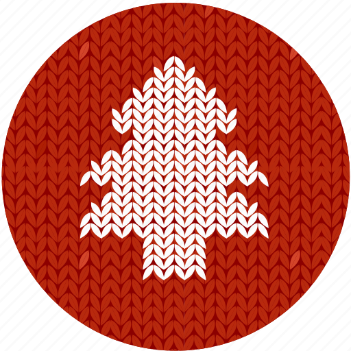 christmas, cloth, fir, new year, red, spruce, tree icon