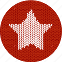 cloth, fabric, knitwear, red, shape, star, white