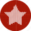 cloth, fabric, knitwear, red, shape, star, white icon
