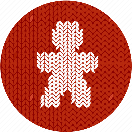 candy, christmas, cloth, cookie, fabric, gingerbread man, holiday, human, knitwear, man, red, sweet, white icon