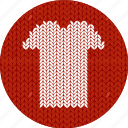 cloth, clothes, fabric, knitwear, red, shirt, t-shirt icon