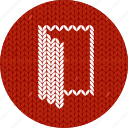 cloth, door, fabric, knitwear, log in, open, opened, red, white icon