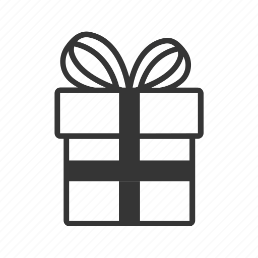 bow, box, christmas, gift, line, ribbon, surprise icon
