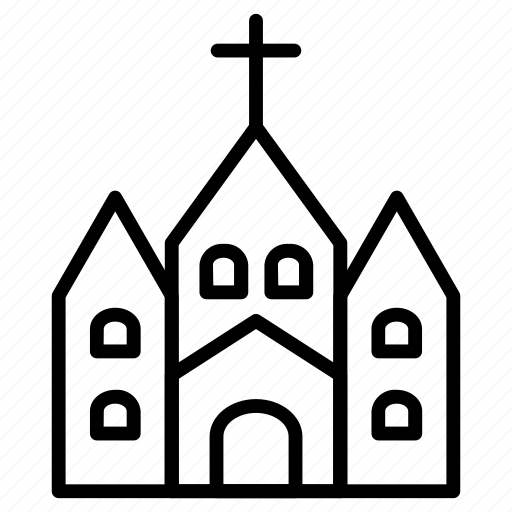Christian, religious, building, cross icon - Download on Iconfinder