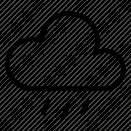 cloud, drops, rain, weather icon