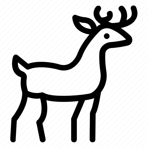 animal, deer, farm, goat icon