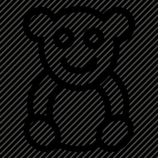 animal, bear, teddy, toy icon