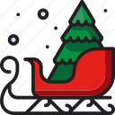 celebration, christmas, decoration, sled, winter