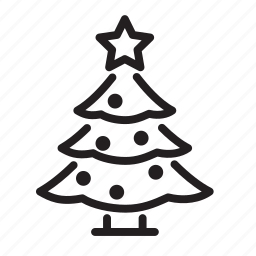 celebration, christmas, decoration, holiday, santa, snow, tree, winter, xmas icon