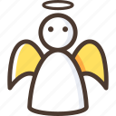 angel, christmas, wing icon