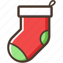 christmas, sock, gift, decoration, socks icon