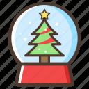 crystal, ball, christmas, gift