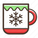 mug, christmas, drink icon