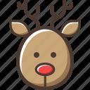 reindeer, christmas, deer, new year icon