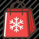 shopping, christmas, bag, gift