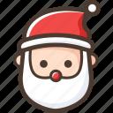 christmas, santa claus, santa, claus icon