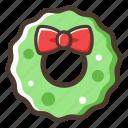 wreath, decoration, christmas, new year