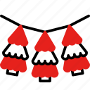 christmas tree, decoration, christmas, garland, celebration
