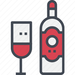 beverage, christmas, drink, ornaments, wine icon