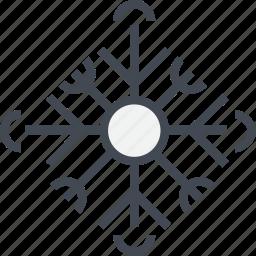 christmas, flake, ornaments, snow icon