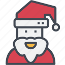 christmas, claus, ornaments, santa icon