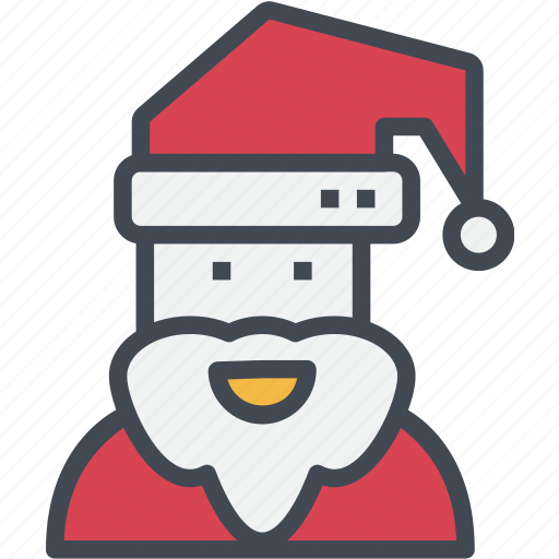 christmas, claus, ornaments, santa icon