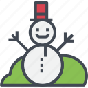 christmas, happy, hat, ornaments, red, snowman icon