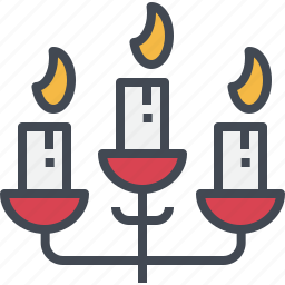candle, candlelight, candlestick, christmas, ornaments icon