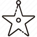art, christmas, line, star icon