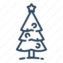 christmas, christmastree, coniferous, forest, spruce, tree, xmas icon