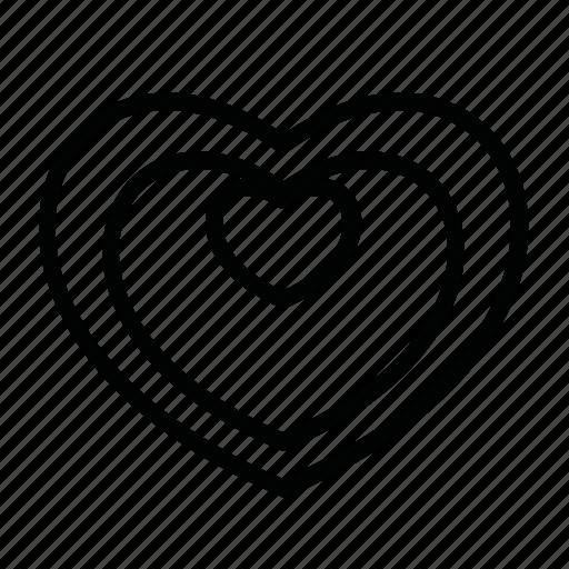 decoration, heart, hearts, like, love icon