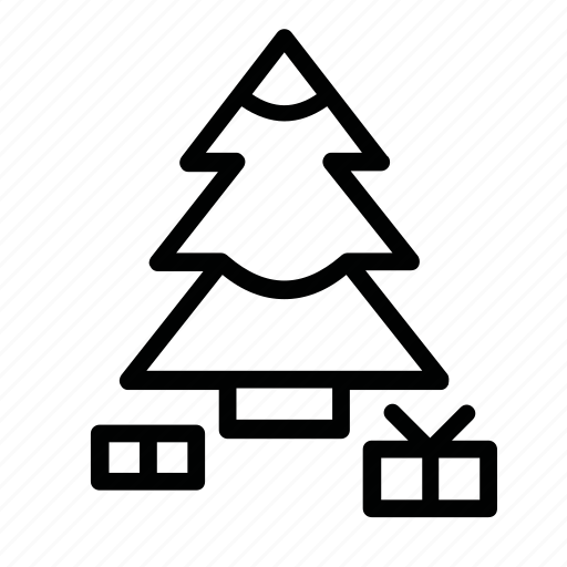 new, presents, snow, tree, x-mas, year icon