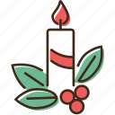 candle, christmas, holidays, winter, xmas icon