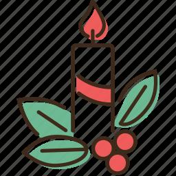 candle, christmas, holidays, winter, xmas icon