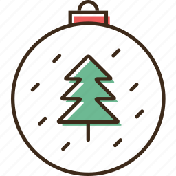 ball, christmas, holidays, winter, xmas icon