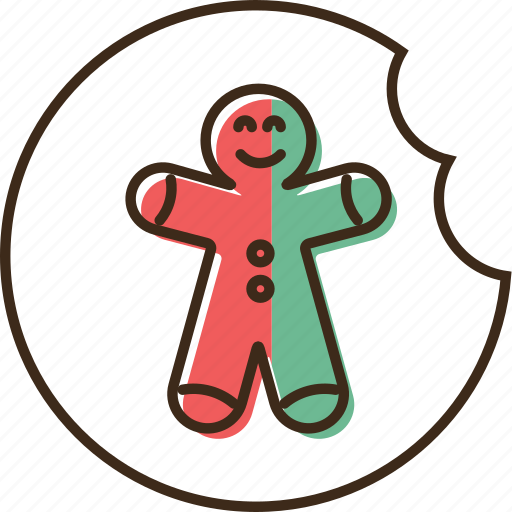 christmas, gingerbread, holidays, winter, xmas icon