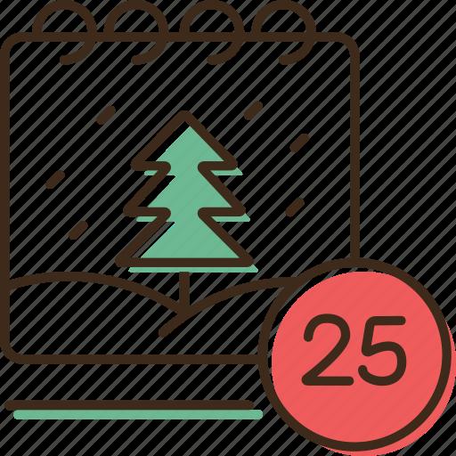 calendar, christmas, holidays, winter, xmas icon