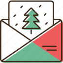 christmas, envelope, holidays, winter, xmas icon